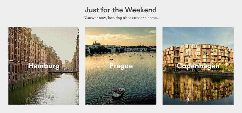Airbnb Getaways - Find your favourite weekend trip destination