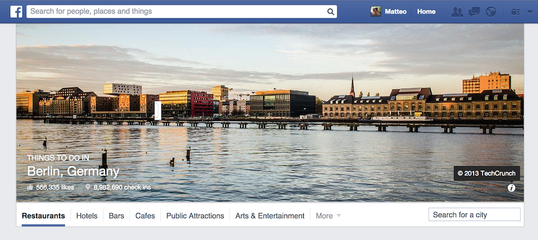 Facebook Places - Things to do in Berlin
