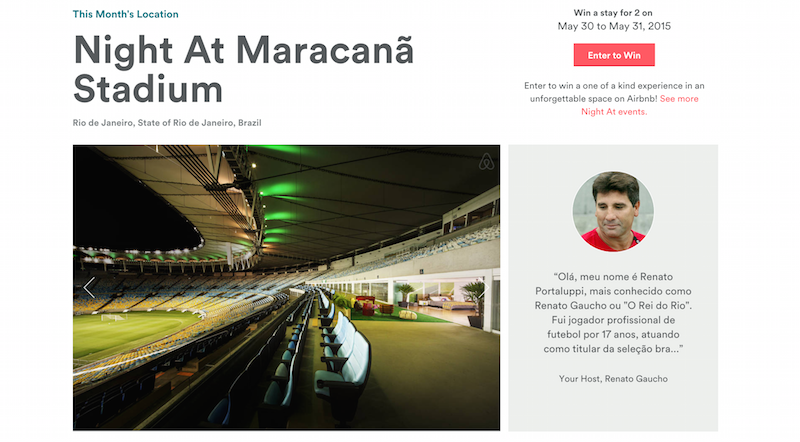 Airbnb - A night at the Maracana